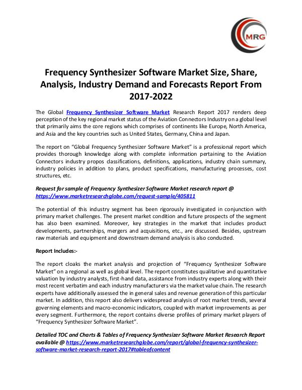 QY Research Groups Frequency Synthesizer Software Market Size, Share,