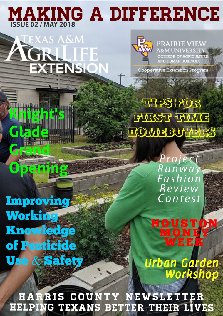 MAKING A DIFFERENCE NEWSLETTER - Issue 2, Volume 18 (May-2018) Issue 2, Volume 18 (May 2018)