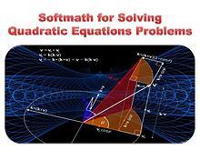Softmath for Solving Quadratic Equations Problems