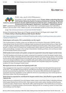 Public Safety in-Building Wireless DAS System Market Gain Dramatic gr