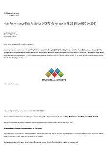 High Performance Data Analytics Market worth 78.26 Billion USD by 202