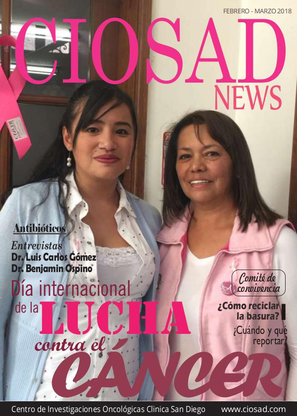 CIOSAD News CIOSAD News - EDICIÓN FEBRERO MARZO 2018