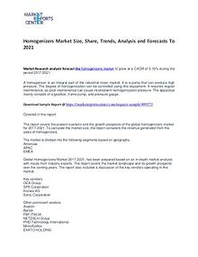 Homogenizers Market Size, Share, Trends, Analysis and Forecasts