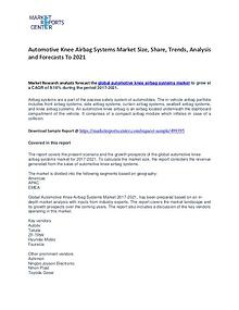 Automotive Knee Airbag Systems Market Growth, Price and Forecast