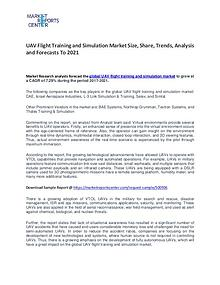 UAV Flight Training and Simulation Market Size, Share and Trends