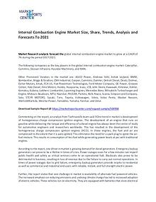 Internal Combustion Engine Market Size, Share and Forecast