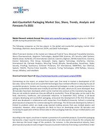 Anti-Counterfeit Packaging Market Trends, Growth and Forecast