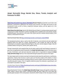 Atopic Dermatitis Drug Market Manufacturers, Region and  Application