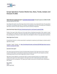 Agriculture Tractors in Europe Market Research Report Analysis