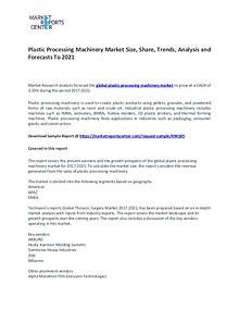 Plastic Processing Machinery Market Size, Share, Growth,  Analysis
