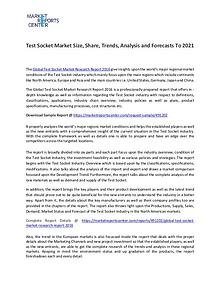 Test Socket Market Size, Share, Trends, Classifications and Forecasts