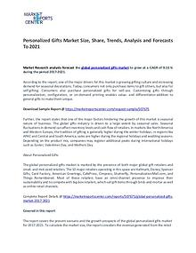 Personalized Gifts Market By Trends, Driver, Challenge and Forecasts