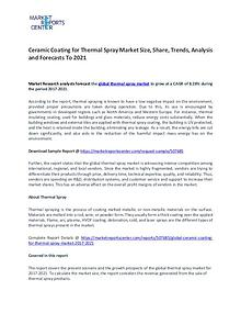 Ceramic Coating for Thermal Spray Market Research Report Analysis To