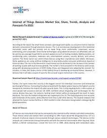 Internet of Things Devices Market Research Report Analysis To 2021
