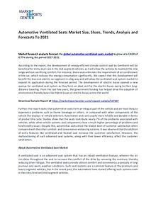 Automotive Ventilated Seats Market Research Report Forecasts To 2021
