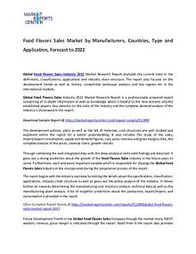Food Flavors Sales Market Size, Production, Gross Margin and Forecast