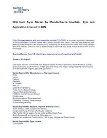 DHA from Algae Market Research Report Analysis to 2022