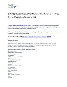 Combustion Gas Analyzer Market Report Analysis To 2022