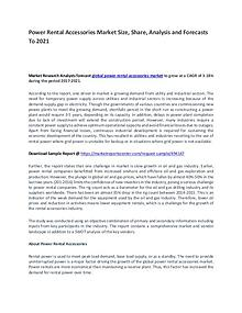 Power Rental Accessories Market Report Analysis to 2021