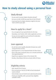Use Personal Loan to Finance Your Study
