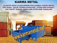 KARMA METAL Istiflenebilir Metal Depolama Tasima Kasasi Avadanlik