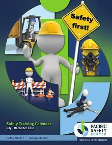 Pacific Safety Training Calendar Jul-Dec 2016
