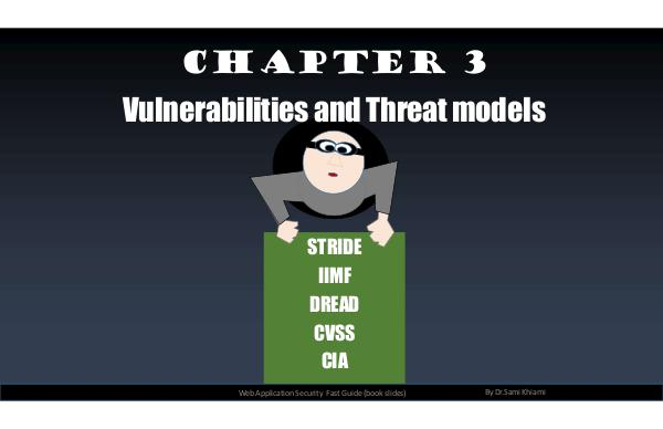 Web application security - the fast guide Chapter 3: Vulnerabilities And Threat Models