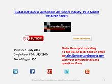 Automobile Air Purifier Industry 2016-2021 Global and Chinese Market