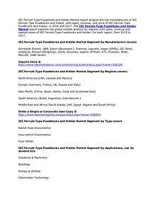 IEC Ferrule Type Fuseblocks and Holder Market 2022 Forecasts Report