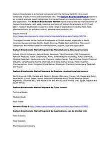 Worldwide Sodium Bicarbonate Market Analysis and Forecasts Till 2022