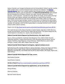 Sodium Cyanide Market 2017 - Worldwide Industry Trend & Forecast 2022