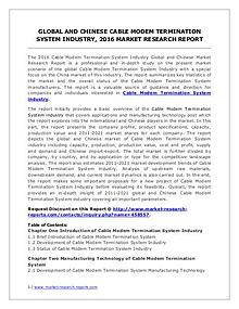 Cable Modem Termination System Market Analysis and Forecasts 2021
