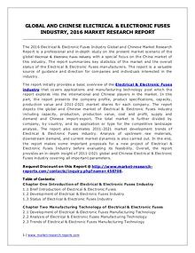 Electrical & Electronic Fuses Market Analysis and Forecasts 2021