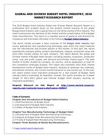 Budget Hotel Market Revenue and Growth Rate Forecasts to 2021