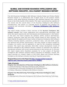 Business Intelligence (BI) Software Market Trends Forecasts to 2021