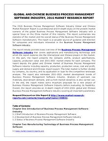 Business Process Management Software Market Analysis & Forecasts 2021