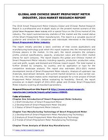 Smart Prepayment Meter Market Analysis 2016 and Forecasts to 2021