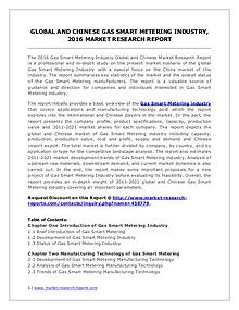 Gas Smart Metering Market Analysis and Forecasts 2016 to 2021