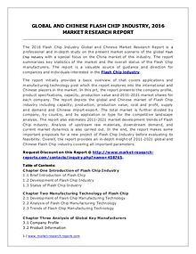 Flash Chip Market Development Trends, Demands and Forecasts 2021