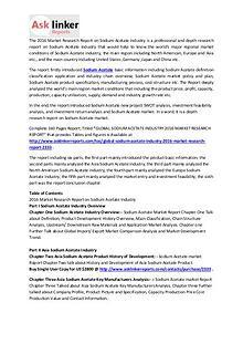 Sodium Acetate Market Analysis and Industry Forecasts to 2020