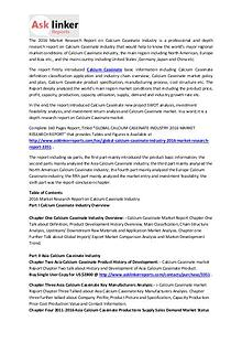 Calcium Caseinate Market Conditions 2016 and Industry Forecasts 2020