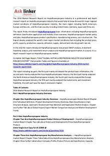 Heptafluoropropane Market Upstream Demands and Industry Forecast 2020