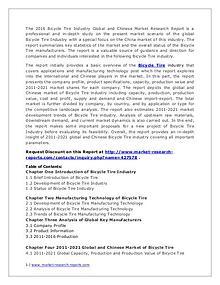 Bicycle Tire Market World's Main Region Analysis Report 2016