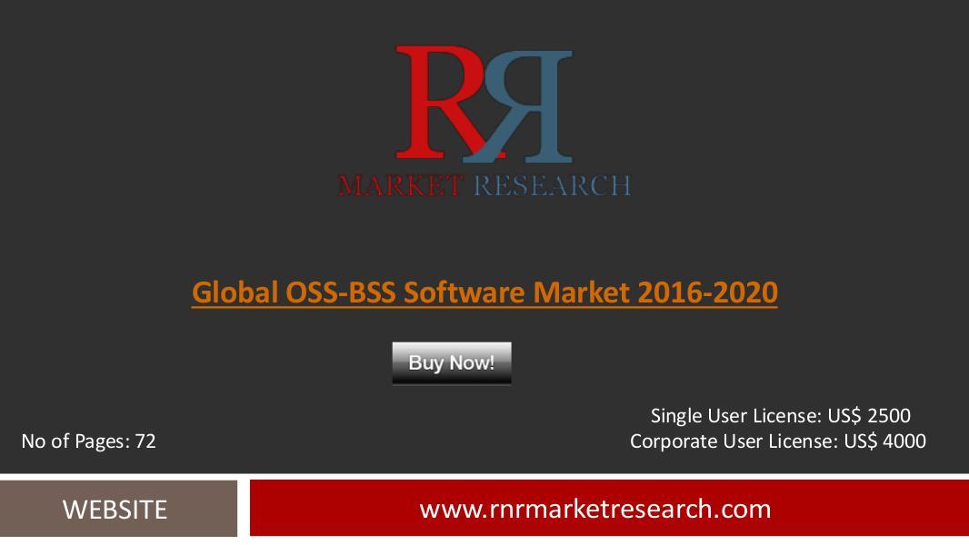 Global OSS-BSS Software Market 2016-2020 July 2016