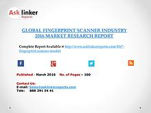 Global Fingerprint Scanner Market 2016-2020 Report