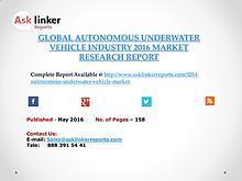 Global Autonomous Underwater Vehicle Market 2016-2020 Report