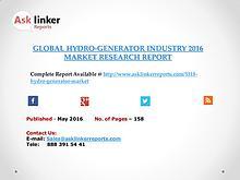Hydro-Generator Industry Key Companies Market Share in 2016 Report