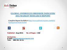 Global Hydrogen Bromide (HBr) Market 2016-2020 Report