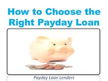 How to Choose the Right Payday Loan