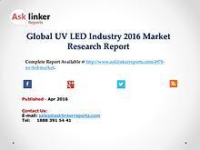 Global UV LED Market 2016 Investment Feasibility and Return Analysis